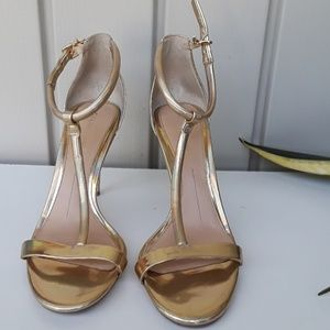 GIANNI BINI Gold SHOES SIZE 7